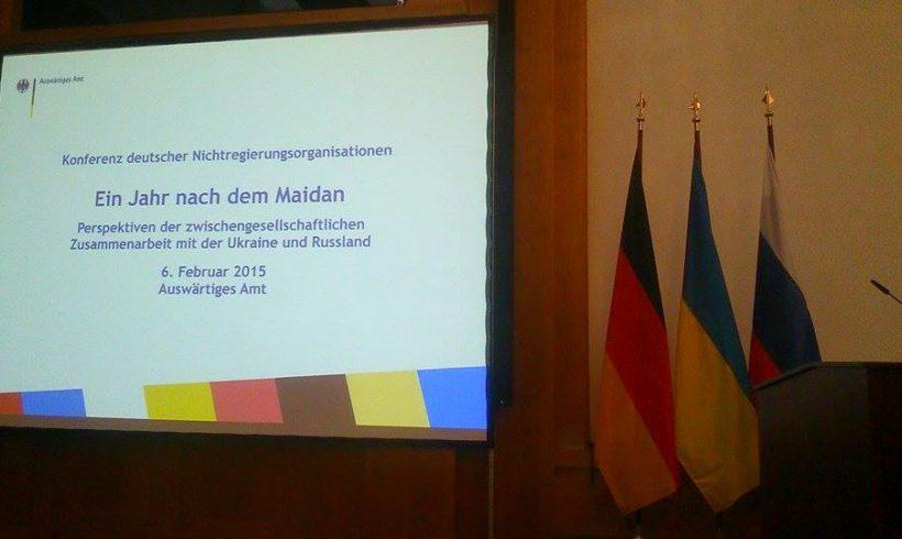 """""""Ein Jahr nach dem Maidan – Perspektiven der zwischengesellschaftlichen Zusammenarbeit mit der Ukraine und Russland"""""""