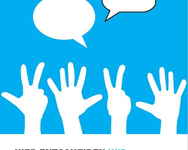 """""""Hier entscheiden WIR"""" – Broschüre zu Jugendpartizipation"""